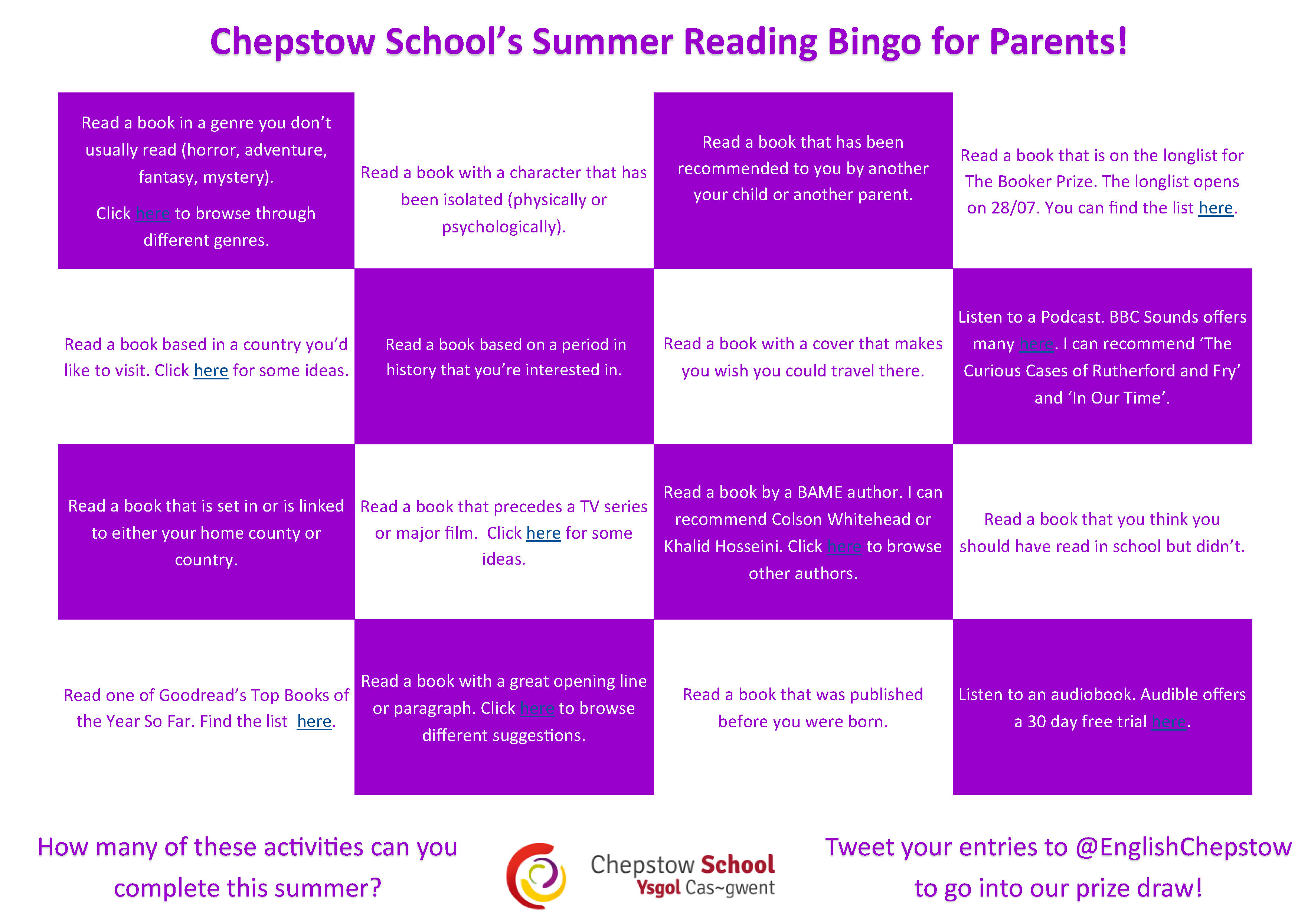 Summer Reading Challenge for Parents